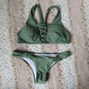 Zaful Swim - NWOT Zaful Olive Green Bikini L